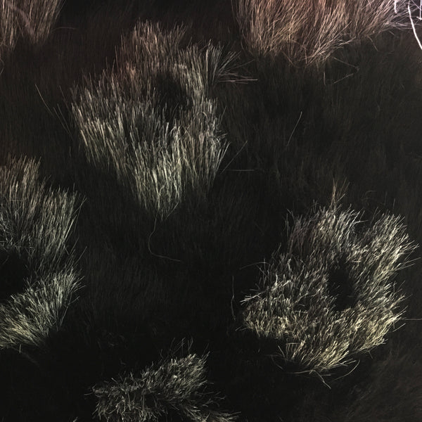 Faux Fur - Black Grey Spots short