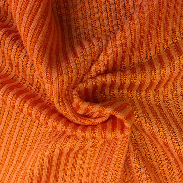 Bright Orange Ribbed Jersey