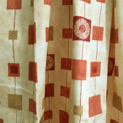 Ready Made Curtains - Orange squares