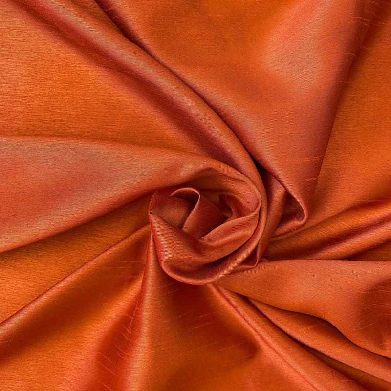 Shantung Satin - Terracotta