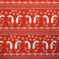 Nordic Christmas Penguins - Red