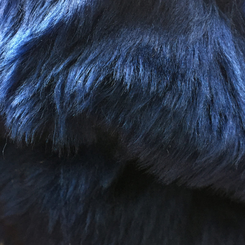 Faux Fur - Navy - Mid