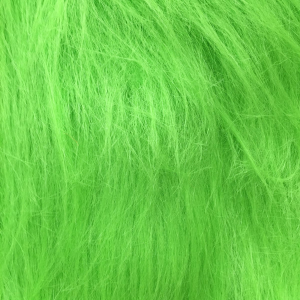 Faux Fur - Vivid Green Long