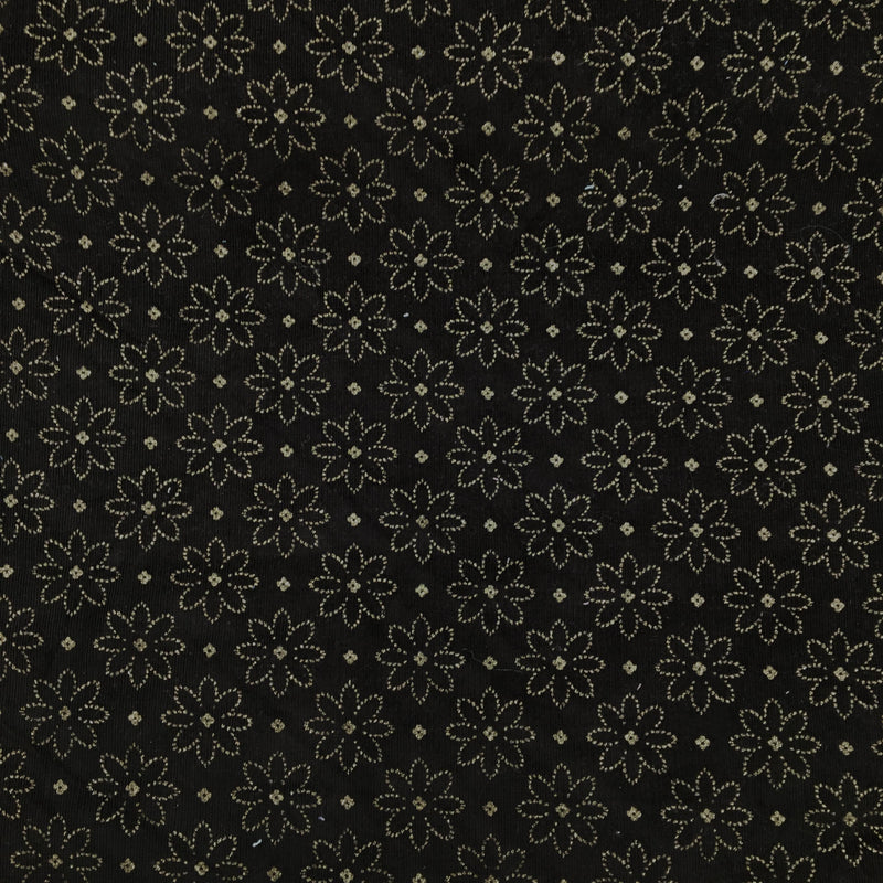 Babycord - Black Floral Sparkly
