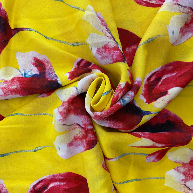 St Tropez - Floral on Yellow