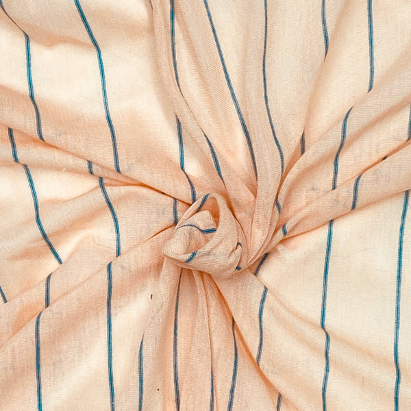 Stretch Jersey - Peach & Blue