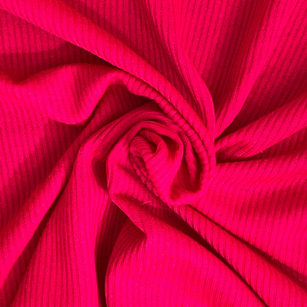 Fuschia Stretch Ribbed Jersey