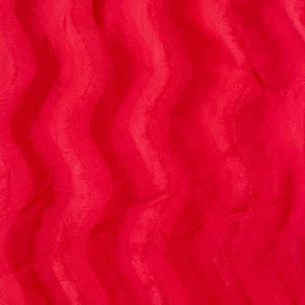 Raspberry Ripples Velour