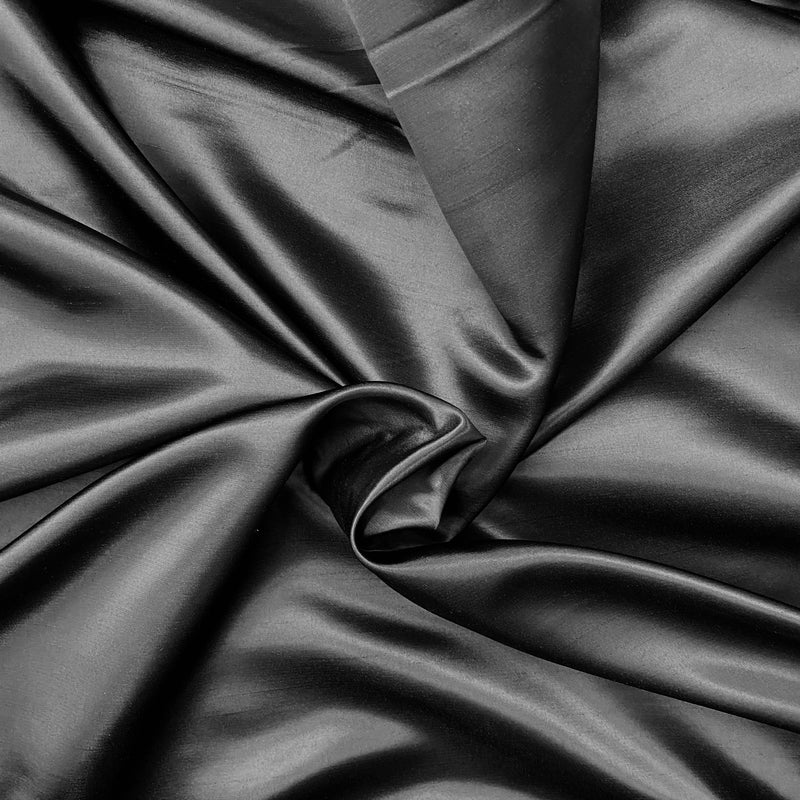 Shantung Satin - Black