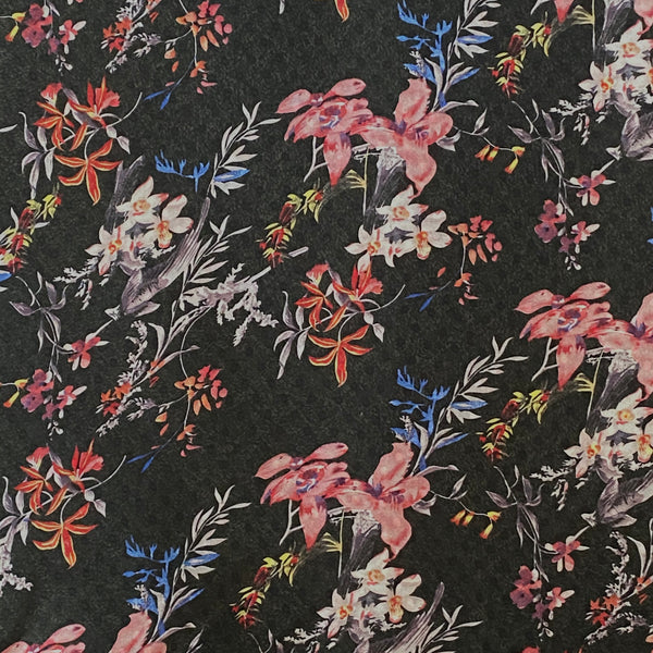 Shelley - Floral Pink and Black