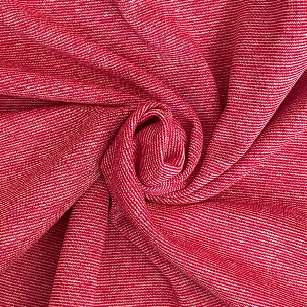Reversible Stretch Jersey - Fuschia
