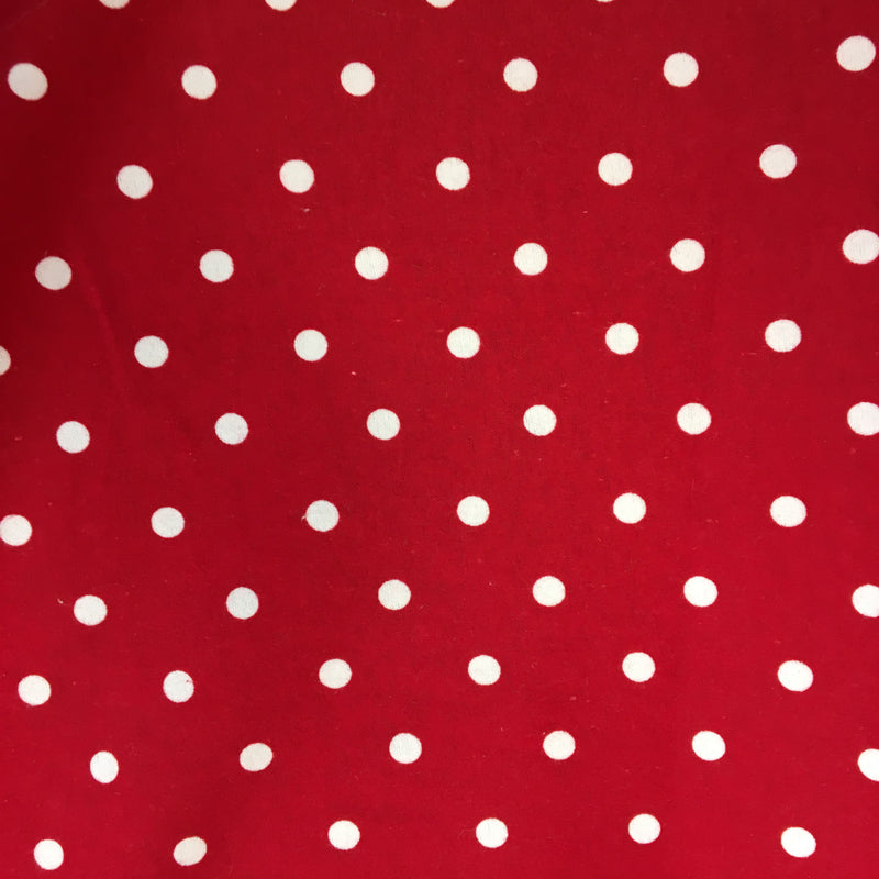 Red Polka dots brushed