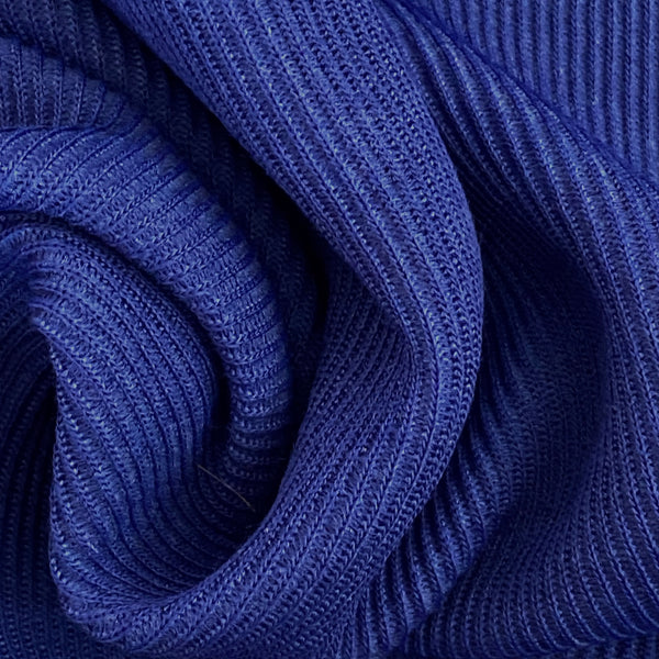 Stretch Jersey Tubular - Blue Ribbed