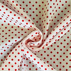 Polka Dots Red on White
