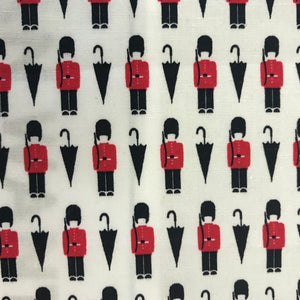 Queen's Guard on Cream Print