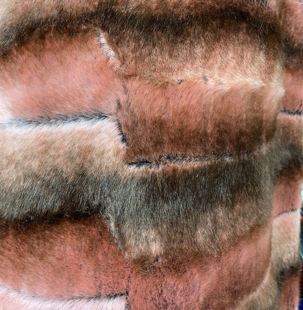 Faux Fur - Patchwork Russet Medium