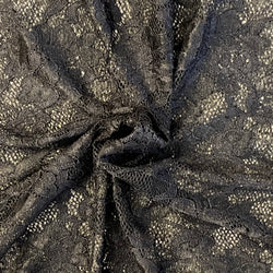 Stretch Lace - Black Scalloped