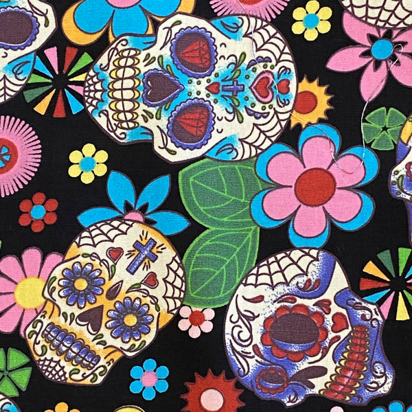 Cotton Poplin - Glass Skulls