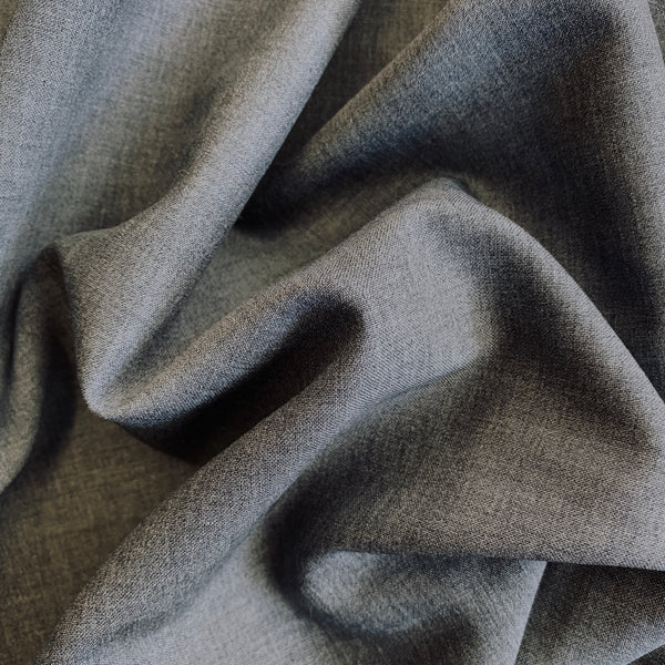 Grey Superfine Wool Suiting