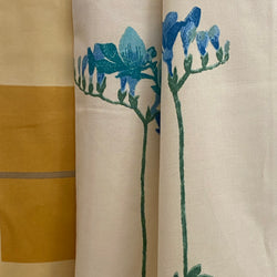 Ready Made Curtains -  Yellow & Blue Floral
