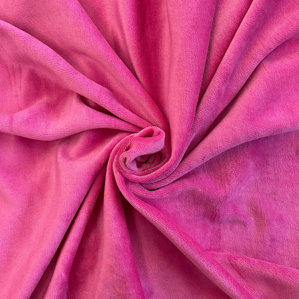 Fuschia Stretch Velour