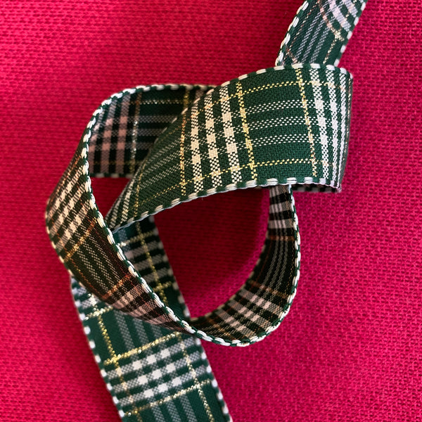 Christmas Ribbon - Green Check