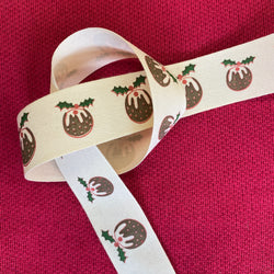 Christmas Ribbon - Christmas Puddings