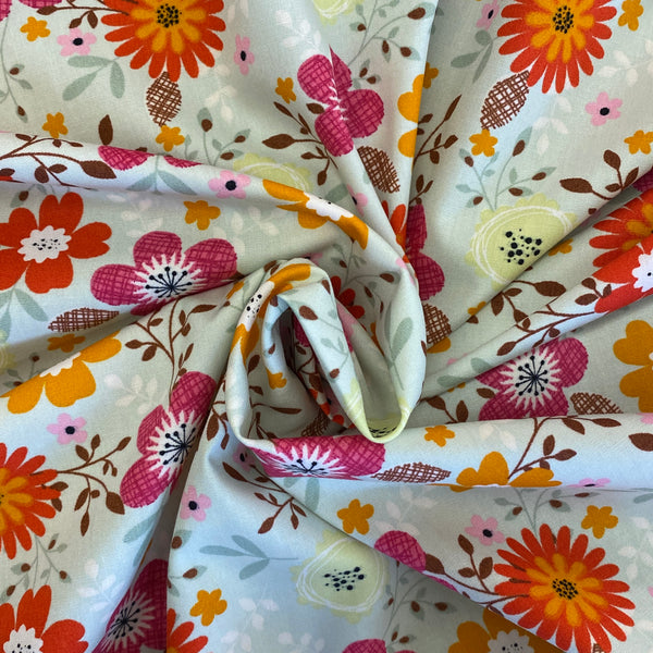 Cotton Poplin Wild Flowers