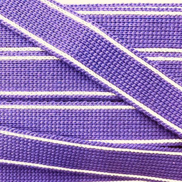 KRCA 30 Webbing - Purple with Ecru edge stripe