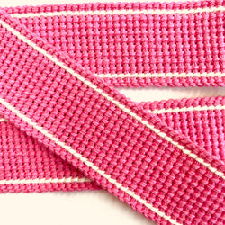 KRCA 30 Webbing - Light Pink with Ecru edge stripe