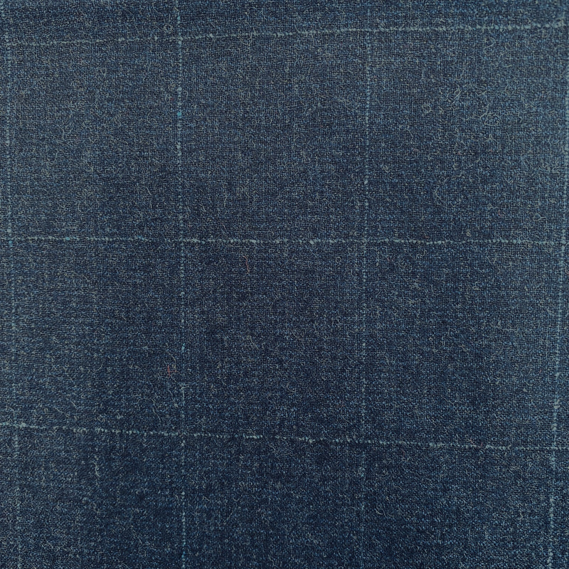 Dark Denim Blue Squares