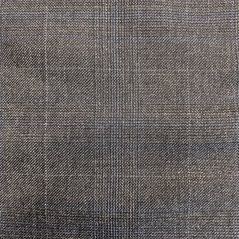 Superfine Wool Suiting - Blue on grey check
