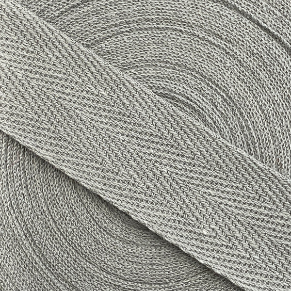 Herringbone Webbing Tape - Cotton Grey