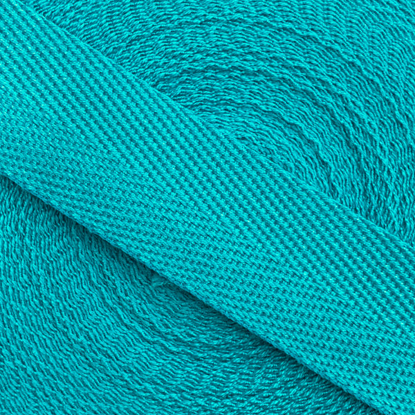 Herringbone Webbing Tape - Cotton Turquoise