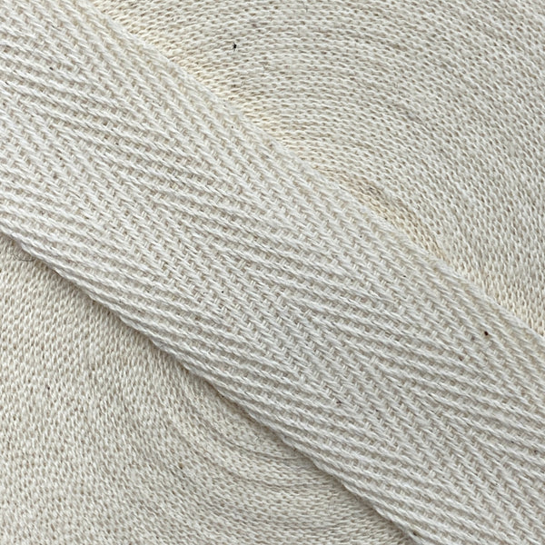 Herringbone Webbing Tape - Cotton Oatmeal