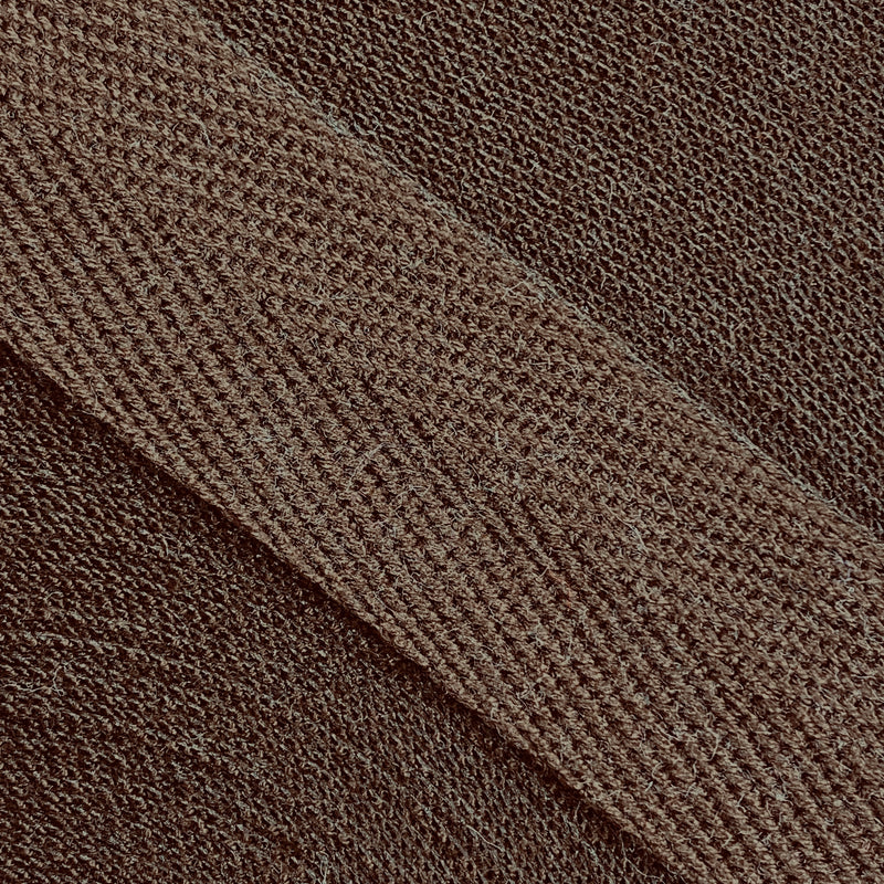 Herringbone Webbing Tape - Cotton Brown