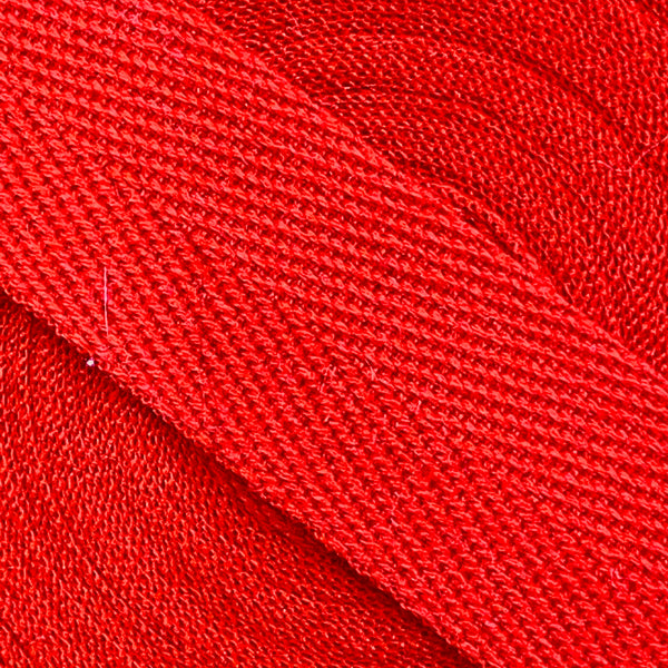 Herringbone Webbing Tape - Cotton Red
