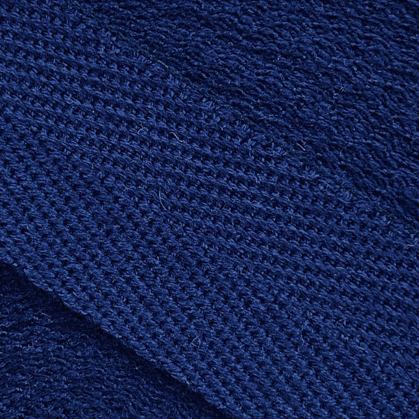 Herringbone Webbing Tape - Cotton Navy