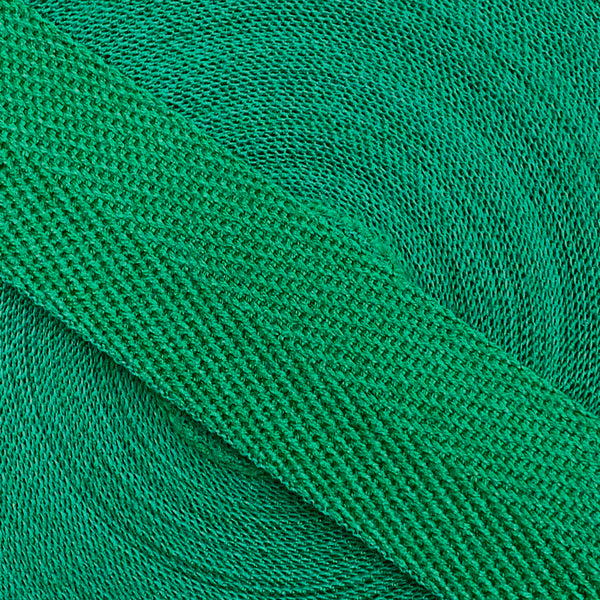 Herringbone Webbing Tape - Cotton Emerald