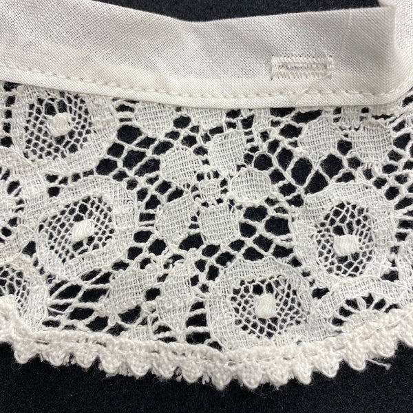 White Lace Trimmed Collar