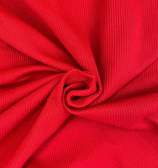 Scarlet Ribbed Jersey