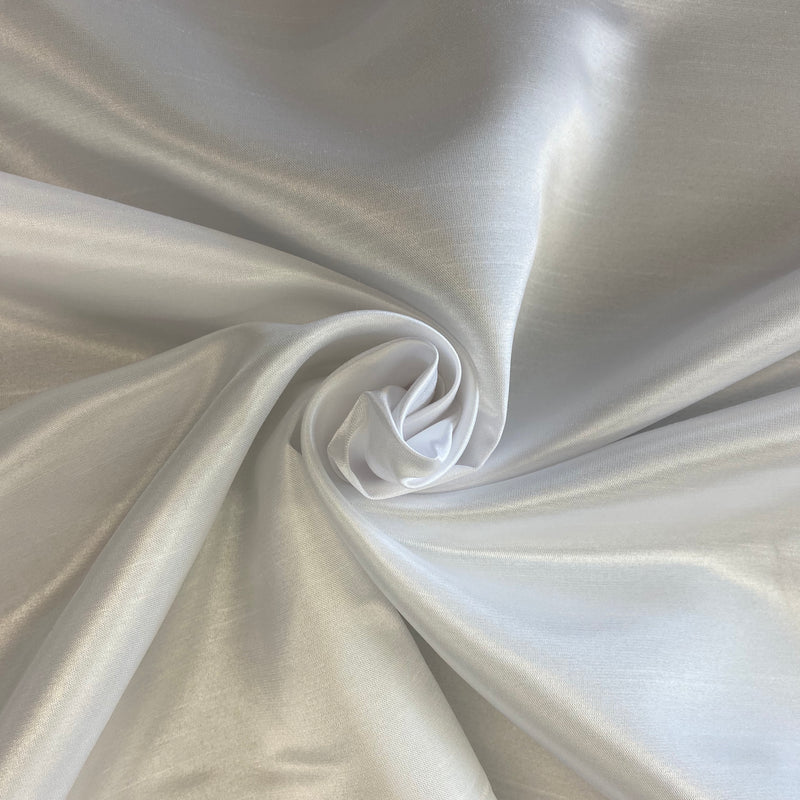 Shantung Satin - White