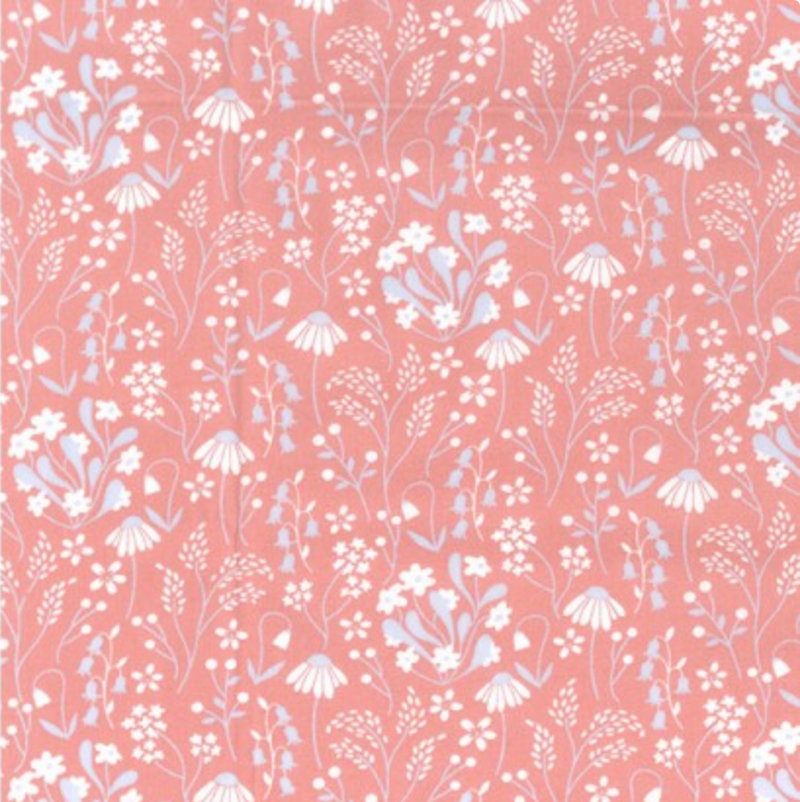Cotton Poplin - Floral Rose