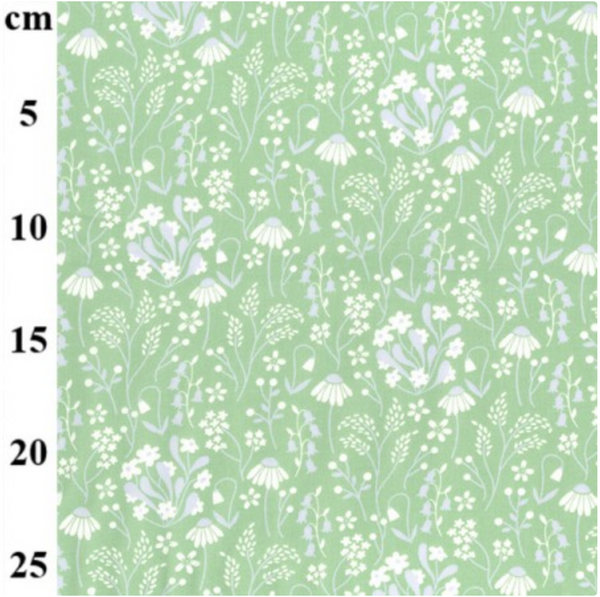 Cotton Poplin - Floral Green