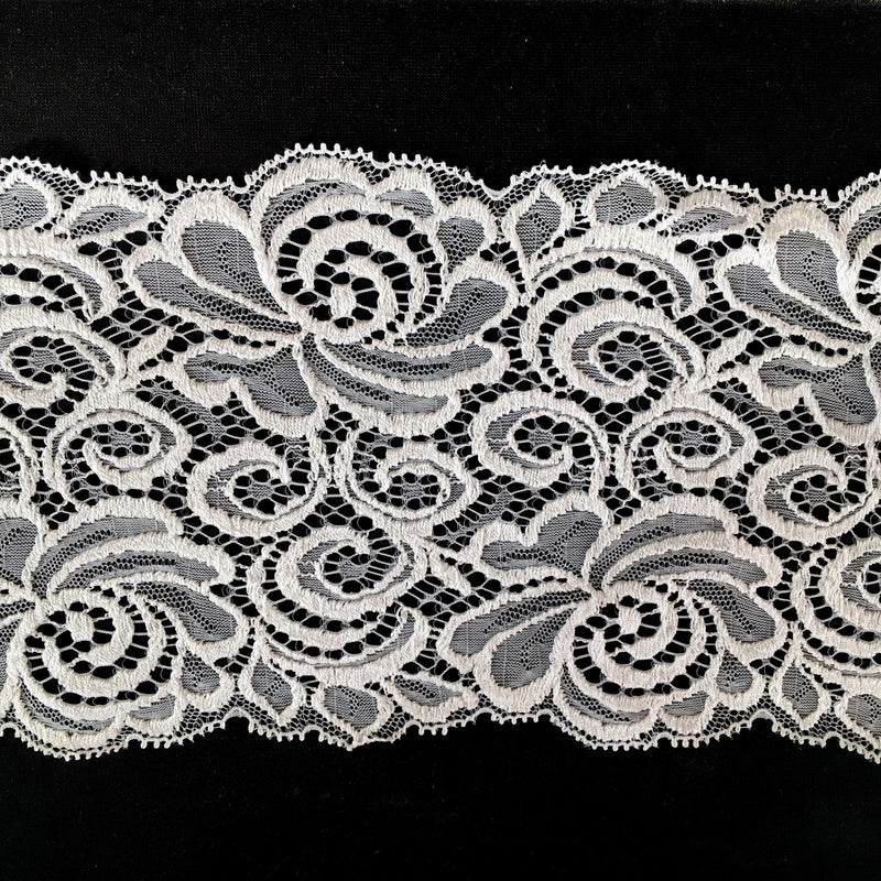 White Lace Trimming Width 12.5cm