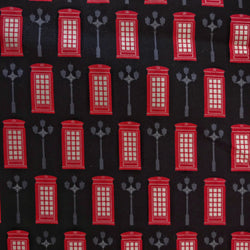 London Telephone Box on Black