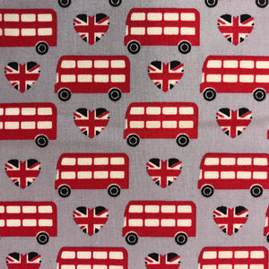 London Buses on Grey