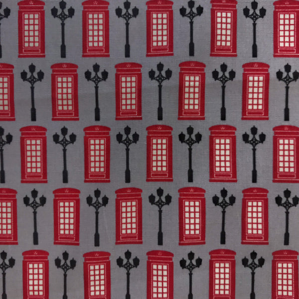 London Telephone Box on Grey