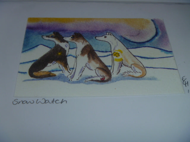 "Greeting Card - ""Snow Watch"" (morning)"