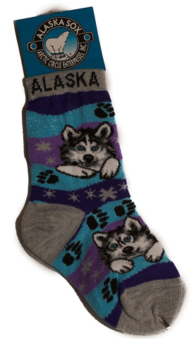 Alaska Socks - Purple/Grey/Blue